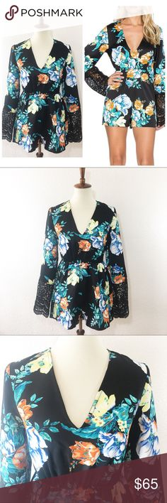 """NWT MINKPINK simply bloom romper size XS Details: Stunning romper from minkpink  Size: XS Material: 100% polyester  Condition: Brand new with tags  Measurements are taken flat! Chest:  16"""" armpit to armpit)  Length:  30""""from shoulder)  ☑️ Bundle Discounts  ☑️Fast shipping  ☑️Posh Ambassador  ✨Shop with Confidence MINKPINK Pants Jumpsuits & Rompers"""