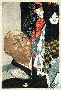 JUNICHIRO SEKINO (Japanese 1914-1988) BUNGORO IN THE DRESSING ROOM