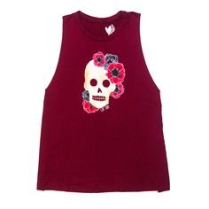 Floral Skull Muscle Tank