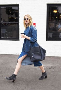 The One Style Rule Every Fashion Girl Follows All Fashion, Fashion Tips, Monochrome Outfit, Madewell Denim, Lookbook, Who What Wear, My Style, Casual, Summer Styles