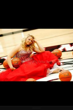 Senior picture idea but with volleyballs