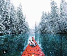 Kayaking around in...