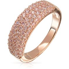Bling Jewelry Has Its Thorns Band ($30) ❤ liked on Polyvore featuring jewelry, rings, pink, band jewelry, pink rose ring, rose jewelry, rose ring and eternity band ring