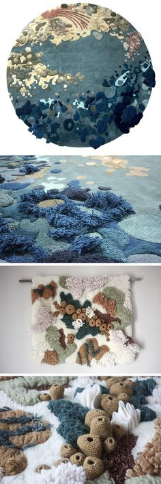 Nature-Based Textiles by Vanessa Barragão Highlight Ecosystems Above and Below the Sea Art Textile Nature-Based Textiles by Vanessa Barragão Highlight Ecosystems Above and Below the Sea Banksy Graffiti, Fabric Art, Fabric Crafts, Diy And Crafts, Arts And Crafts, Textiles Techniques, Colossal Art, Art Graphique, Fabric Manipulation