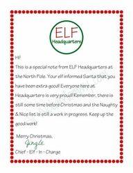 Magic Elf Goodbye Note Elves Shelves and Xmas elf