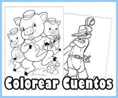 Dibujos para colorear cuentos