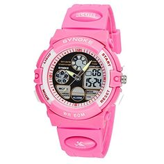 Backlight Analog Digital Sport Waterproof Wristwatches Watch for Girls ** Check out this great product.