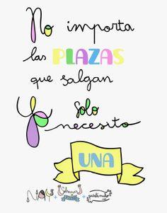 número de plazas vs. número de valientes ~ Sobrevivir a opositar sin volverse loco #oposiciones