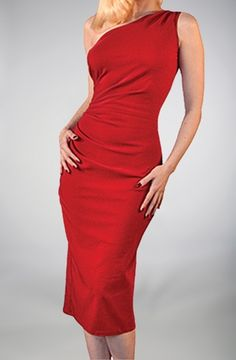 Gorgeous vintage like lipstick red dress