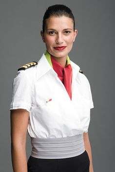TAP Portugal Flight Attendant (though with those epaulets she looks more like a member of the Flight Crew) Airline Uniforms, Airline Tickets, Corporate Uniforms, Stewardess Costume, Fly Company, Pilot Uniform, Airline Cabin Crew, Female Pilot, Portugal