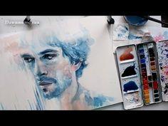 ▶ Will Graham (Hugh Dancy) Watercolor Portrait - YouTube