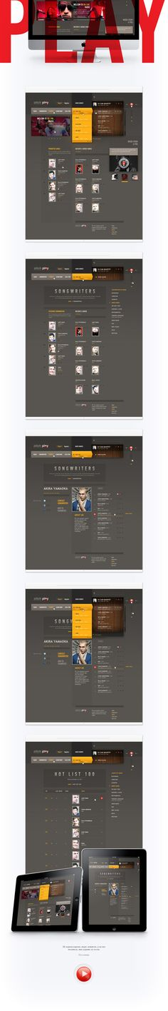 Play by Sergei Gurov, via Behance #e-commerce #design #webdesign