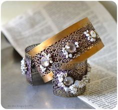 Reserved for M. Filigree lace cuff. Bohemian inspired. by LeeOhio