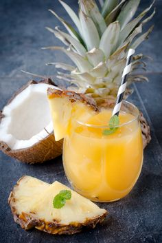 Bring home a taste of the tropics with this enticing pineapple coconut cocktail. The beach is this way.