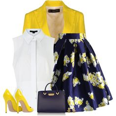 How To Wear bright blazer Outfit Idea 2017 - Fashion Trends Ready To Wear For Plus Size, Curvy Women Over 50 Classy Dress, Classy Outfits, Chic Outfits, Dress Outfits, Work Fashion, Skirt Fashion, Fashion Dresses, Fashion Looks, Complete Outfits
