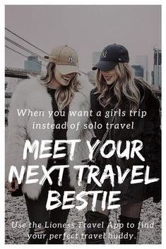 Do you have a trip you've been dying to take but don't want to go alone? And you haven't found your perfect travel buddy? Pop over to the brand new Lioness Travel App to find your next travel bestie, meet awesome women while your traveling, and maybe even make a few extra bucks when you're at home. #Travel #TravelTrips #FemaleTravel #TravelBuddy #Traveler