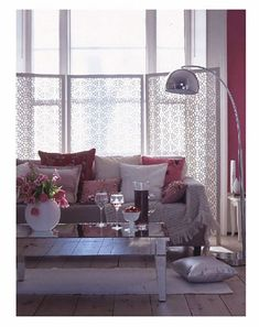 Biombos on pinterest curtain divider room dividers and - Separadores de ambientes ikea ...