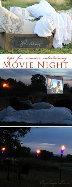 Outdoor Movie Night and seven secrets for summer entertaining  #spon #OutdoorEntertaining