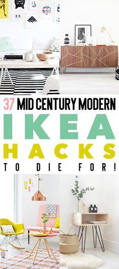 37 Mid Century Modern IKEA Hacks To Die For! #IKEAHacks, #MidCenturyModern, #MidCenturyModernIKEAHacks, #IKEAHacks, #IKEAHack, #Hacks,