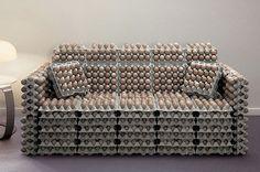 Canapé boîtes à oeufs
