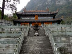 pictures chinese mountains | Taoist Monastery At Wudang Mountains, China - HD Travel photos and ...