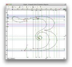 Thomas Phinney on Fonts. Cristoforo swash B in FontLab Studio.