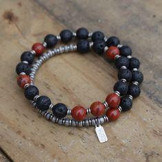 Men's Jewelry - #Yoga Inspired #Chakra Jewelry Collection Chakra Jewelry, Chakra Bracelet, Men's Fashion Jewelry, Fashion Bracelets, Hippie Jewelry, Beaded Jewelry, Men's Jewelry, Male Jewelry, Handmade Jewelry