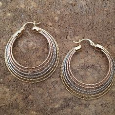 Gorgeous Multi Hoops Design Earrings For any outfit from the very casual to the very formal. Reward your jewelry collection! 14K Gold Silver Bronze Plated / Gift Packaging Victoria Perez Collection Jewelry Earrings