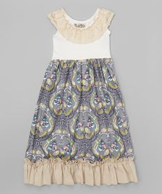 Look at this Gray Butterfly Forest Maxi Dress - Infant, Toddler & Girls on #zulily today!
