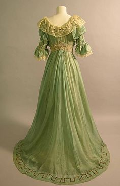 Evening dress, by Sarah Fullerton Monteith Young, c. 1906-08, Brighton & Hove Museums