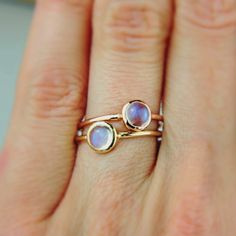 Moonstone Morning Glow  choose your gold color