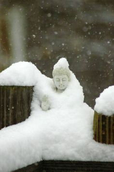 ~ buddha in snow ~ <3