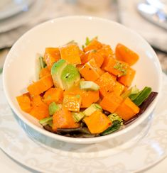 Sweet Potato & Avocado Salad from Nourish restaurant.  This is SO YUMMY!