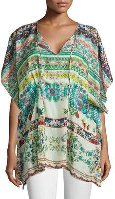 Plus Size Silk Poncho