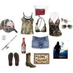 minus the bikini top that is; Cute Country Outfits, Country Girl Style, Country Fashion, Cute Outfits, My Style, Country Life, Southern Fashion, Country Chic, Matching Outfits