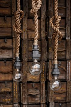 The Machina Pendant - Hanging Rope pendant light - metal Industrial Lighting - Vintage Rustic Ceiling lights