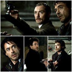Sherlock Holmes (Robert Downey Jr. and Jude Law)