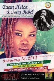 Queen Ifrica, Tony Rebel, Abja & The Lionz of Kush, in Sacramento, CA