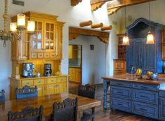 Classic New Mexico Homes Spanish Style Decor, Spanish Style Homes, French Decor, French Country Decorating, Furniture Makeover, Cool Furniture, Painted Furniture, Painting Bookcase, New Mexico Homes