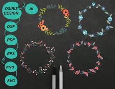 Floral wreath svg . wreath svg . floral clipart . wreath | Etsy Monogram Wreath, Monogram Frame, Scrapbook Pages, Floral Wreath, Stationery, Clip Art, Invitations, Wreaths, Shop