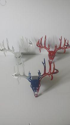 CNC Plasma Cut 3D Deer Skull Hitch Cover by ClemCustomCreations