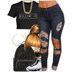 July 30, 2k15 by xo-beauty on Polyvore featuring polyvore fashion style MCM Versace Balenciaga