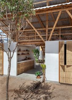 Bamboo Architecture, Sustainable Architecture, Rest House, House In The Woods, Bungalow, Bamboo House Design, Bamboo Building, Bamboo Panels, Bamboo Structure