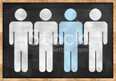 Humane resources / Blackboard concept (Click for more) royalty-free stock photo