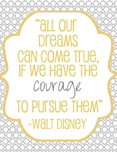 Free Printable Disney Quote -- also available in Blue!