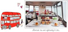 Afternoon Tea Bus Tour in London!  http://www.bbbakery.co.uk/our-bakeries/afternoon-tea-bus-tour/