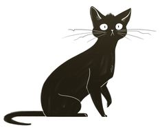 Animal Sketches, Animal Drawings, Black Cat Art, Black Cat Drawing, Cat Character, Art Graphique, Warrior Cats, Character Design Inspiration, Oeuvre D'art