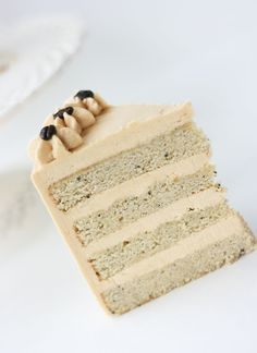 white mocha cake with espresso caramel buttercream