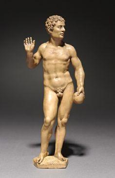 Cleveland. Adam, c. 1535 Daniel Mauch (allemand, 1477-1540) buis, l'ensemble - h: 18,30 w: 7,00 d: 4,00 cm