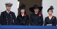 """Zum """"Remembrance Sunday"""" kamen Herzogin Kate und Königin Máxima in London zusammen. Und zeigten sich in Trauer vereint."""